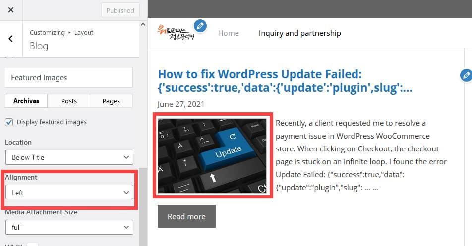 GeneratePress:モバイルサムネイルの位置を変更する