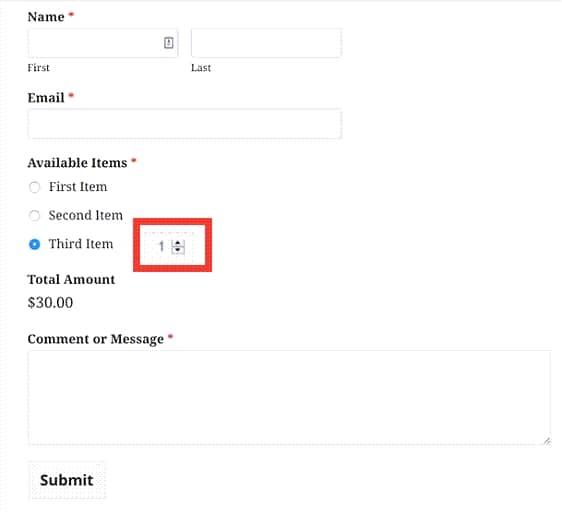 워드프레스 WPForms 주문 양식에 상품 옵션을 추가하는 방법