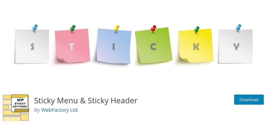 워드프레스 메뉴와 헤더를 고정하자 - Sticky Menu & Sticky Header 플러그인