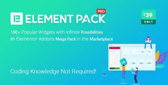 엘리멘터 페이지 빌더용 애드온 Element Pack